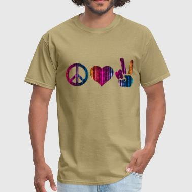 love and peace and peace - Men's T-Shirt