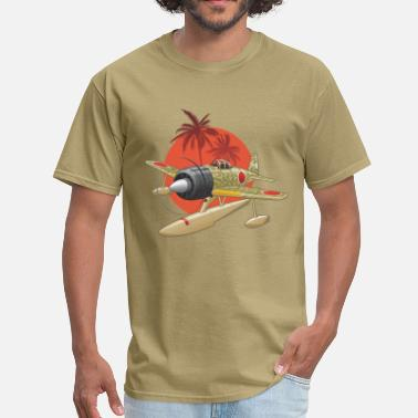 Plane Kamikaze Japanese WWII Airplane - Men's T-Shirt