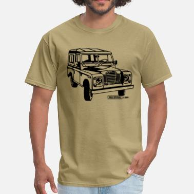 Land Rover Serie Foil print Land Rover series illustration - Men's T-Shirt
