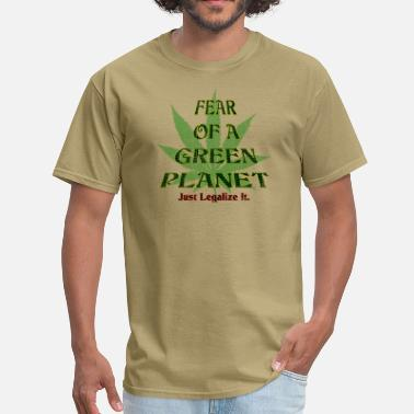 Planet Fear Of A Green Planet - Men's T-Shirt
