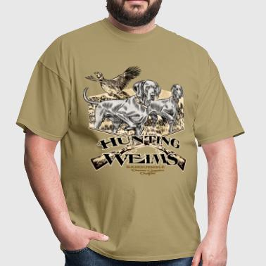 hunting_weims - Men's T-Shirt