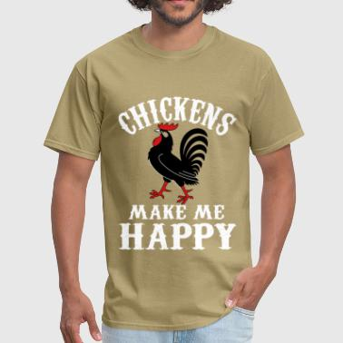 Kfc Lsd Fried Chicken Kentucky Colonel Sanders Black People Food Fast Funny Joke Chicken lover - Chickens make me happy - Men's T-Shirt