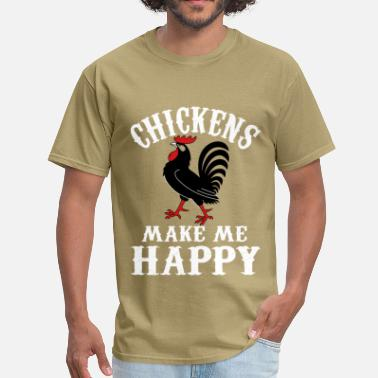 Colonel Sanders Chicken lover - Chickens make me happy - Men's T-Shirt