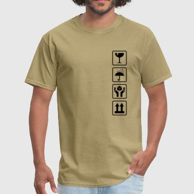 Cardboard box shipping symbols - Men's T-Shirt