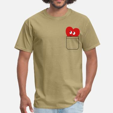 Romantic heart in pocket - Men's T-Shirt