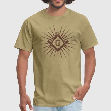 Freemasonry, Square Compass, Great Architect, God - Men's T-Shirt