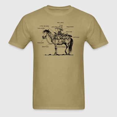 Thelwell Learning Western Riding - Men's T-Shirt