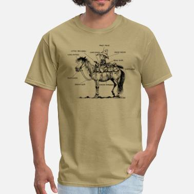 Horse Thelwell Learning Western Riding - Men's T-Shirt