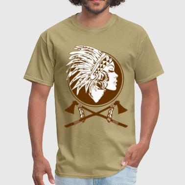 Indian Native American Women  - Men's T-Shirt
