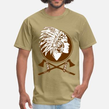 Indian Clubs Indian Native American Women  - Men's T-Shirt