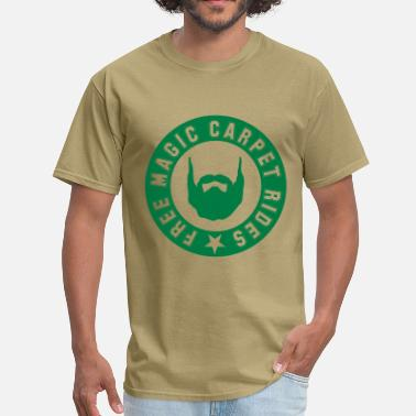 Free Moustache Rides Free Magic Carpet Rides - Men's T-Shirt
