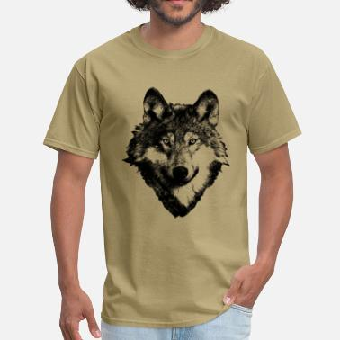 Indian Wolf Wolf Art Design - Men's T-Shirt
