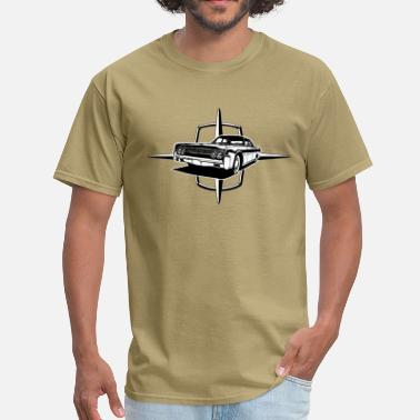 Lincoln auto_lincoln_star_and_car_1_bw - Men's T-Shirt