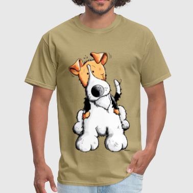 Funny Fox Terrier - Men's T-Shirt