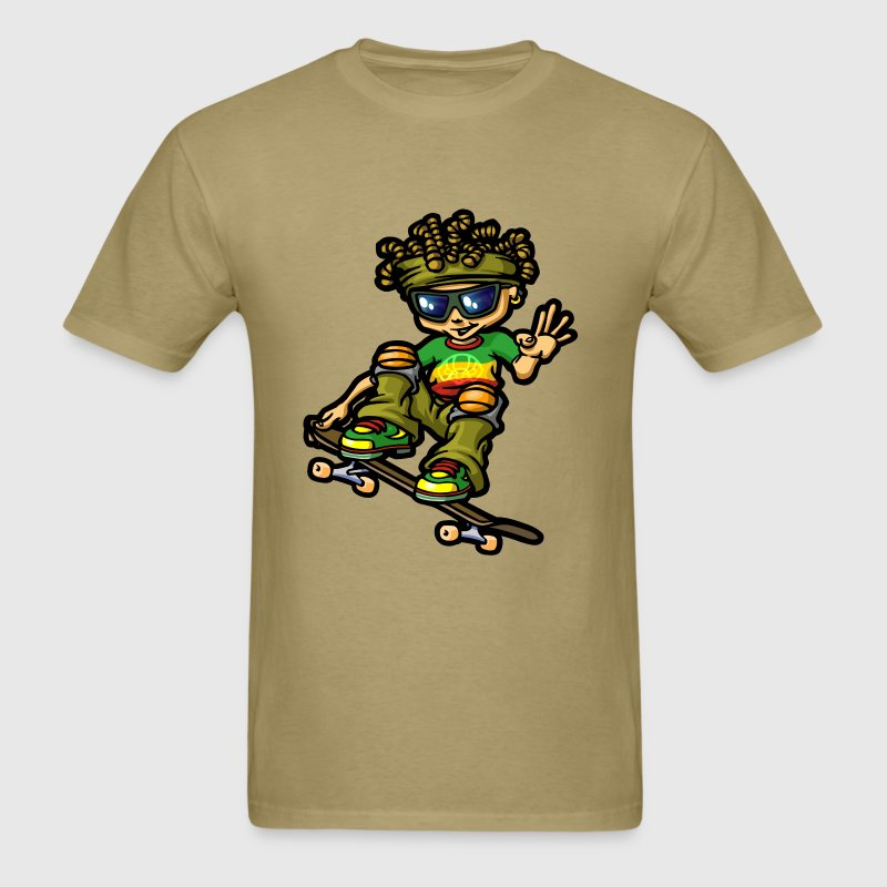 Reggae boy and dreads - Men's T-Shirt