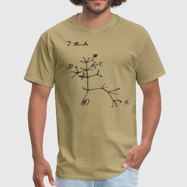 Darwin I Think Tree (black) - Men's T-Shirt