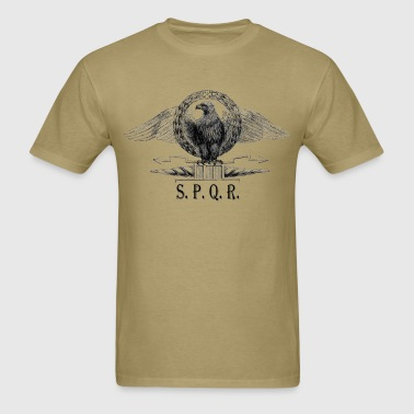 Roman Eagle With SPQR Sign - Men's T-Shirt