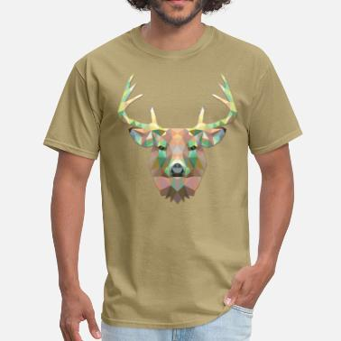 Polygonal Animal Polygonal Deer - Men's T-Shirt