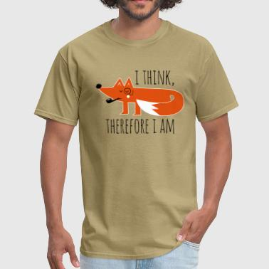 Fox Fox Philosophy quote i think therefore i am geek - Men's T-Shirt