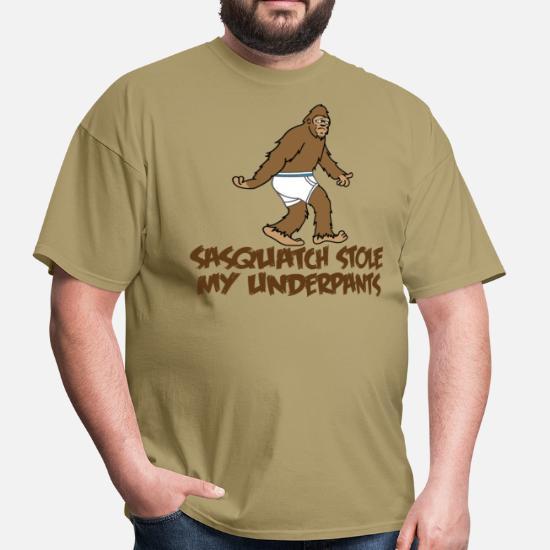 e60dc712 Sasquatch stole my undies!!! Men's T-Shirt   Spreadshirt