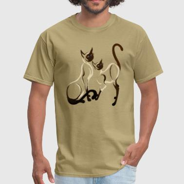 Siamese Cats Two Siamese Cats - Men's T-Shirt