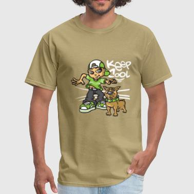 B-boy and dog - Men's T-Shirt