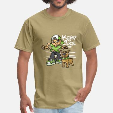 B Boying B-boy and dog - Men's T-Shirt