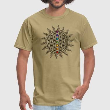 FLOWER OF LIFE, CHAKRAS, SPIRITUALITY, YOGA, ZEN - Men's T-Shirt