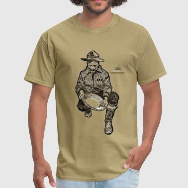 California Gold Miner with Mining Pan - Men's T-Shirt