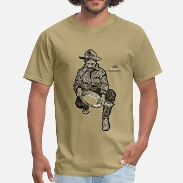 Gold Mine California Gold Miner with Mining Pan - Men's T-Shirt