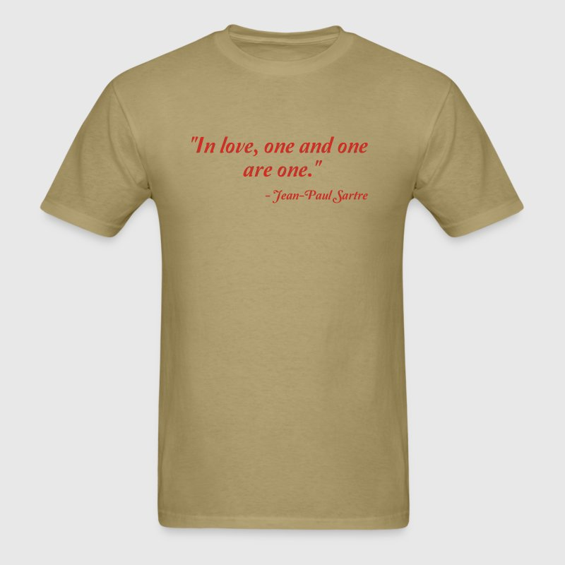 Jean-Paul Sartre on Love - Men's T-Shirt