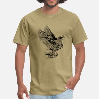 Branch Dove in tattoo style - Men's T-Shirt