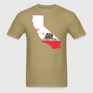calipornia_state_outline - Men's T-Shirt