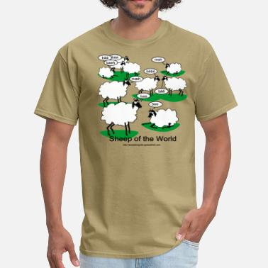 Different Languages Sheep of the World - Men's T-Shirt