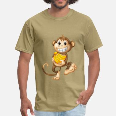 Monkey Banana monkey funny with bananas - Men's T-Shirt