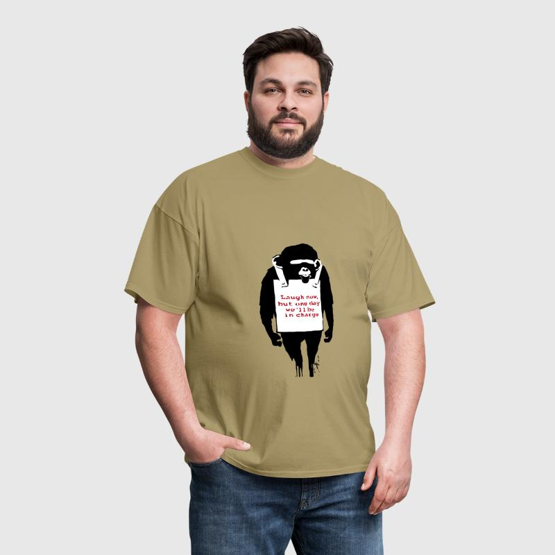 Banksy Laugh Now Monkey - Men's T-Shirt