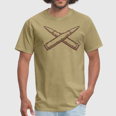 Two Rifles bullets_x - Men's T-Shirt