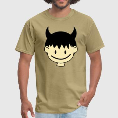 devil boy with horns - Men's T-Shirt