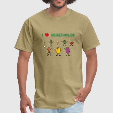 I love vegetables - Men's T-Shirt