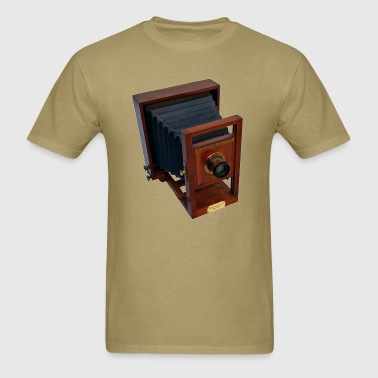 Vintage 19th Century Wooden Antique Camera - Men's T-Shirt