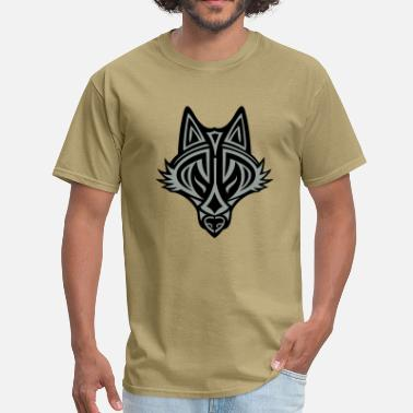 Celtic Wolf Graphic Wolf - Men's T-Shirt
