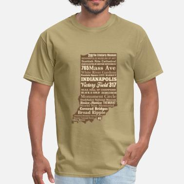 Indiana Indiana Subway Art - Men's T-Shirt