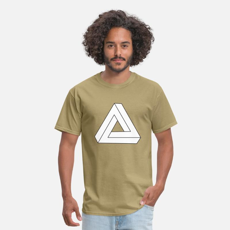 Triangle T-Shirts - Impossible Triangle - Men's T-Shirt khaki