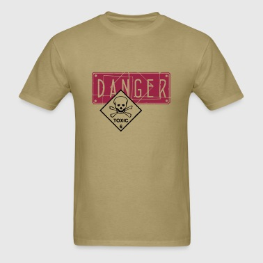 danger toxic_vec_2 us - Men's T-Shirt