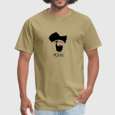 Islamic Quotes Rumi Silhouette Hirsute - Men's T-Shirt