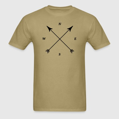 Compass Print, North, East, South, West - Men's T-Shirt