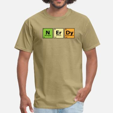 Nerdy Periodic Table Periodic Table Nerdy - Men's T-Shirt