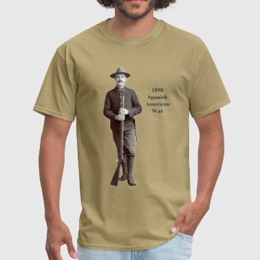 1898 Spanish American War Soldier with Rifle - Men's T-Shirt