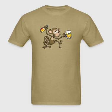 Drunk Monkey - Men's T-Shirt
