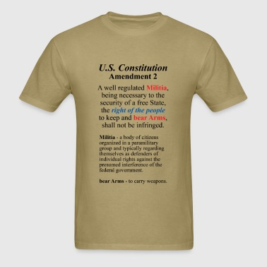 U.S. Constitution Amendment 2 - Men's T-Shirt